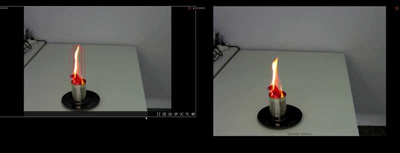 Jak wykryćdym i ogień za pomocą kamery CCTV?