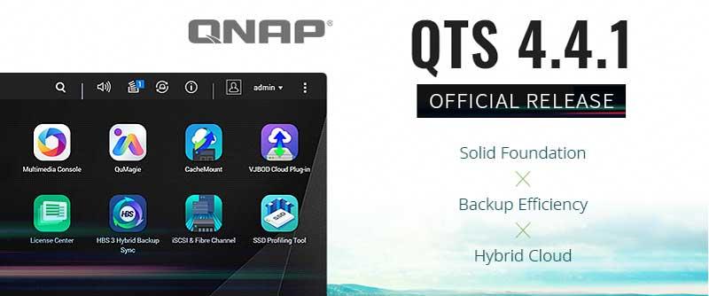 QNAP oficjalne udostępnia QTS 4.4.1